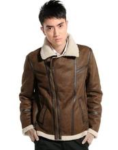Imitation leather Suede composite lamb cozy cool new fashion style men's jacket