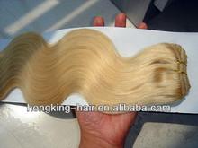 premium body wave indian human hair extension light blonde weave