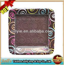 New Design eco-friendly square paper plate
