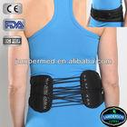 black durable breathable leather lumbar belt