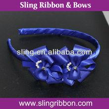 Ribbbon Flower Plastic Charming Girl Headbands