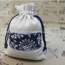 drawstring jute packaging gift bag