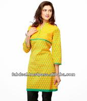 Indian Cotton Kurtis 2014 | indian kurti patterns