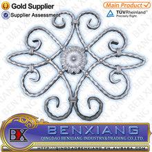 Ornamental/Decorative wrought iron gate part,wrought iron rosette