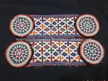 Afghan tribal beaded kuchi belt with medallion
