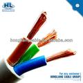 Fio elétrico do pvc capa de fios do cabo encalhado 2.5mm dupla