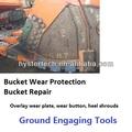 piezas de repuesto excavadora cubo protector de acoplamiento de tierra herramientas bloques de desgaste