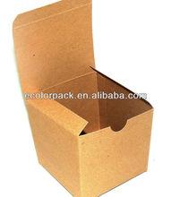 Kraft fold and tuck custom cardboard shoe box wholesale