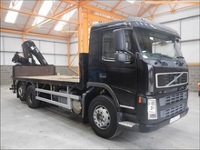 Stock#10729 VOLVO FM9 FLATBED CRANE TRUCK USED TRUCK FOR SALE [RHD][JAPAN]