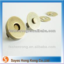 custom label snap button magnetic snaps metal parts for handbag handles