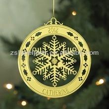 Christmas brass ornament holiday brass ornament
