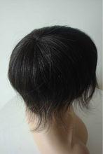 natural hair line wholesale men's toupee Indian remy hair toupee