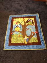 Baby Quilt, Blanket...Handmade Owl Quilt