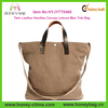 Classic Twin Leather Handles Canvas Leisure Men Tote Bag