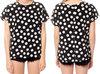 2014 Black and white polka dot blouse for women HSL172
