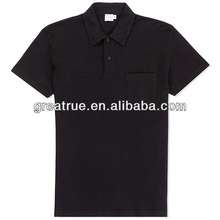 High quality mens custom polo shirt 100 cotton pocket polo shirts made in P.R.C
