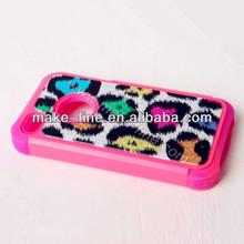 handmade leopard print prestigio cell mobile phone case