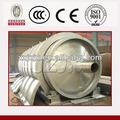 100% segurança horizental gira reator usado plástico linha de óleo