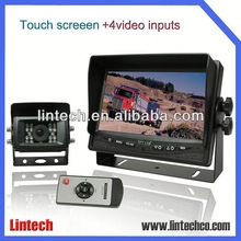 China supplier 7 inch wide screen in car surveillance camera vandalism with mirror function