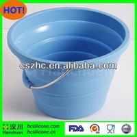 foldable pail,silicon foldable barrel,custom silicone foldable barrel
