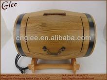 Wood Display Barrel with LED Light