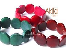 Elastic Tagua Discs Bracelets