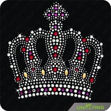 Big crown iron on transfer rhinestone