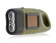 Hand & Solar Power Generation Flashlight (Green)