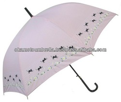 cat and waterdrop umbrella for pet clothing store-pink