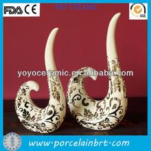 white ivory shaped ceramic thai wedding decorations