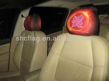 Custom Advertisement Girly Funky Car Seat Covers Design