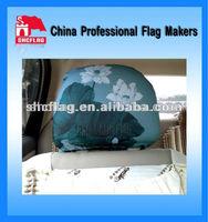 Custom Advertisement Bus Car Seat Headrest Covers Design