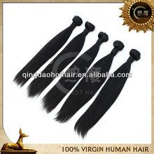 5A human hair hothair 100% vigin straight human hair peruvian human hair