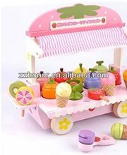 Mother garden wooden toys, strawberry icecream wooden toys