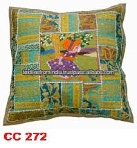 beaded Zari Indian cushion covers