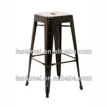 stackable vintage industrial metal bar stools