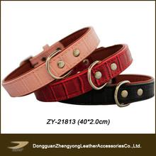 2014 new pet dog products,pitbull dog collars,crocodile leather dog harness