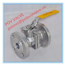 2 way flange ptfe valve lever operated ball valve