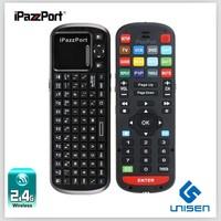 iPazzPort mini wireless TV/computer keyboard,remote keyboard for sharp smart tv