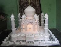 Big Marble Taj Mahal Replica Miniature Hand Carved Decorative Taj Mahal Model