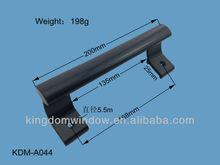 Sliding glass shower door handles,black powder coated aluminium handle
