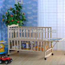 multifunction wooden hospital baby bassinet FSC
