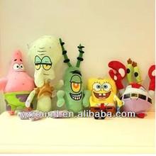 Sponge bob full set cartoon plush soft toys