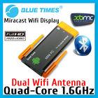 Quad Core Dual WiFi Antenna Bluetooth Android XBMC Mini PC Smart TV Box Stick Dongle