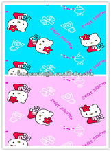little cat printed flannel cloth for baby garment
