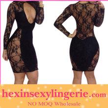 Wholesale fashion beautiful mature women bandage dress