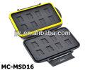 Jjc mc-msd16 tarjeta de memoria caso caja de seguro para 16 micro sd tarjetas de memoria