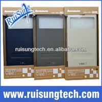 100% Original Lenovo VIBE Z K910 Smart Flip Leather Case K910 leahter case k910 Flip cover Wake Up Fuction 3 colors