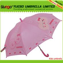 straight carton printing kids umbrella gift