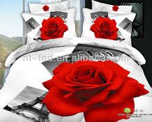 Wholesale-3D Flower printed bedding set bed linen 3D with 6pcs 3d bedlinen